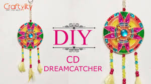 Dream Catcher Christmas Ornament Recycle old CD into wall Decore DIY Dream catcher CD craft 73