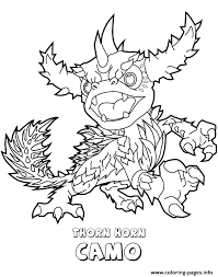 Skylanders Swap Force Thorn Horn Camo Coloring Pages Printable