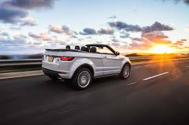 2018 land rover convertible. plain 2018 2017 land rover range evoque convertible rear three quarter in motion  03 and 2018 land rover