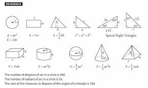 7 Grade Math Formula Chart Critical Sat Math Formulas Technical Books Pdf