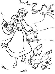 Small Picture Free Printable Beauty And The Beast Coloring Pages For Kids