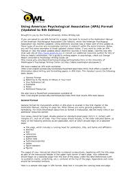 Using American Psychological Association Apa Format Updated