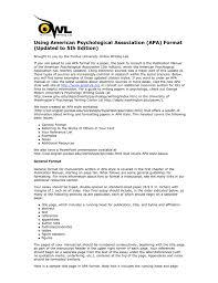 Using American Psychological Association Apa Format Updated