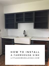 how to install a farmhouse sink orc week 2