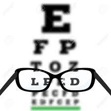 Eyesight Vision Chart Eye Vision Test Poor Eyesight Myopia Diagnostic On Snellen Eye