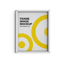 close up on frame image mockup isolated