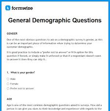 Demographic Survey Template Barca Fontanacountryinn Com