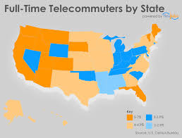 Telecommuter Jobs People Who Telecommute Full Time In All 50 States Infographic