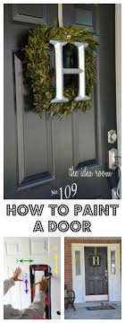 How To how to paint a door with a roller images : How to Paint a Door