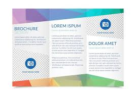 Double Sided Tri Fold Brochure Template Free Tri Fold Brochure