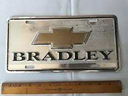 Bradley Chevrolet Chevy Lake Havasu Az Dealer Metal Booster License Plate Front 19 00 Picclick