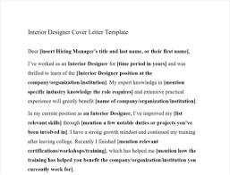 interior designer cover letter with