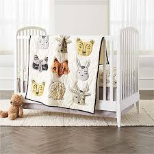 girl crib bedding crate and barrel