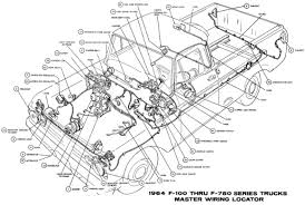 truck wiring diagram 1964 ford truck f 100 wiring diagrams