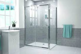 full size of 1200 x 700 sliding door shower enclosure with tray and waste 10mm rectangular