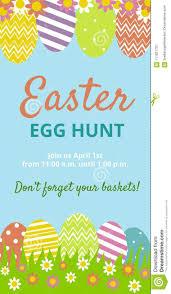 Easter Hunt Invitation Card Stock Vector Illustration Of