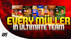 EVERY THOMAS MÜLLER CARD ON FIFA ULTIMATE TEAM! - YouTube