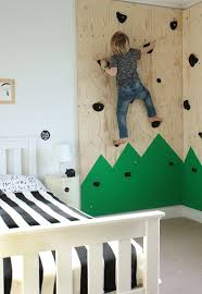 Indoor Climbing Wall For An Outdoorsthemed Bedroom Kiddo In My Classy Themed Bedrooms Exterior Interior