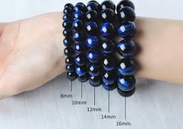 natural blue tiger eye stone bracelets