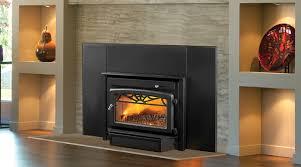 wood burning fireplace inserts modern