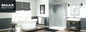 tub maax surround shower installation showers acrylic bathtub
