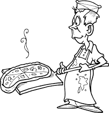 Small Picture Cartoon Pizza Coloring Page Coloring Pages For All Ages Coloring