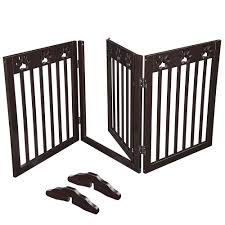 60 x24 3 panel folding pet gate wooden dog fence baby safety gate playpen