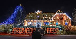 christmas lights on houses. Simple Lights Houses With Bright And Extravagant Christmas Lights Inside Lights On I