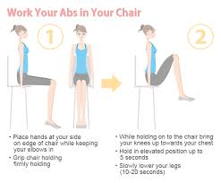 work ab workout in chair