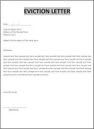 Free Eviction Notices Templates Sample Eviction Notice Letter Download Them Or Print