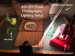 my diy 20 lighting kit for food photographycooking by laptop
