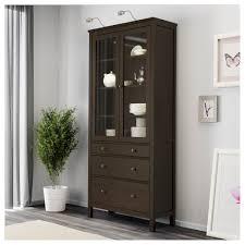 Glass Door Cabinet Hemnes Glass Door Cabinet With 3 Drawers Black Brown Ikea
