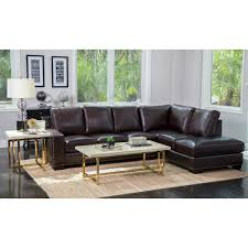 leather sectional couches.  Sectional Abbyson Monaco Brown Top Grain Leather Sectional Sofa In Couches 8