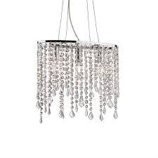 lampadario contemporaneo cristallo metallo cromo