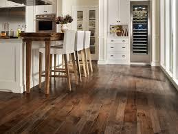 Dark Wood Floors In Kitchen White Kitchen With Dark Wood Floors Wood Floors