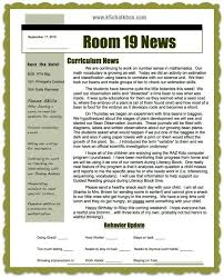 2nd Grade Newsletter Examples Classroom Newsletters That Parents