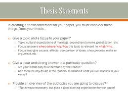 writing english language program in creating a thesis statement 2 in