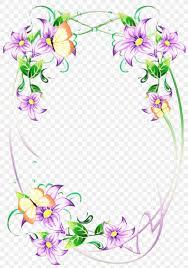 New Design Floral Flower Background Frame Png 896x1280px Floral Design