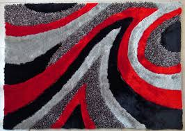 nice black and red contemporary area rugs