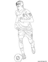 Coloriage Neymar Foot Bresil Jecolorie Com