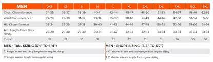 Size Chart Raveling Sports