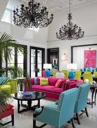 bright colored furniture. black and white room with colorful furniture pink teal green yellow accents fun color scheme i love bright colored d