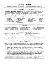 Event Coordinator Job Description Resume