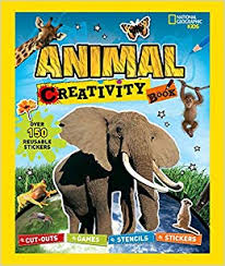 national geographic kids creativity book cut outs games stencils stickers activity book activity books book at low s in