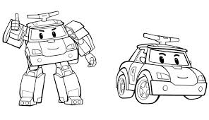 robocar poli coloring pages printable