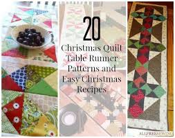 27 Christmas Quilt Table Runner Patterns and Easy Christmas ... & 27 Christmas Quilt Table Runner Patterns and Easy Christmas Recipes Adamdwight.com
