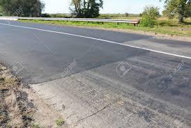 Asphalt Pavement Road Pavers New Asphalt Laid Down Asphalt