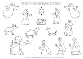 Genuine Nativity Pictures To Color Scene Print Printable 360