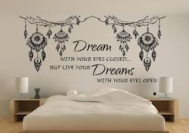 Dream Catchers With Quotes Dream catcher quote wall art decal Dream catcher wall decal 86