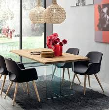 oak glass dining table contemporary dining table oak glass rectangular oak and glass round dining table